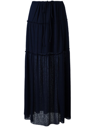 skirt maxi skirt maxi pleated women cotton black