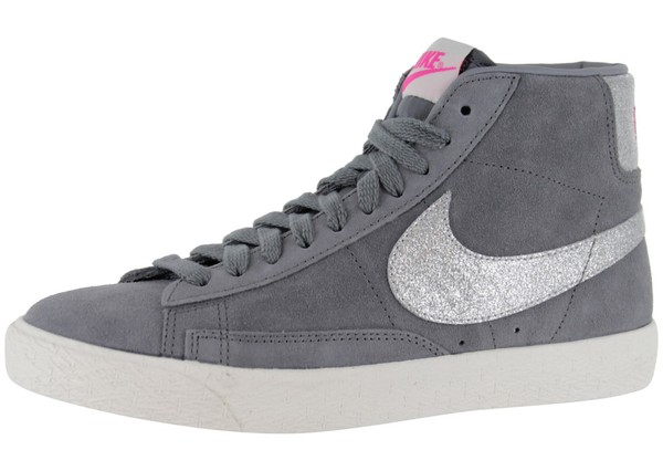 shoes nike blazer glitter grises nike paillettes fashion shoes