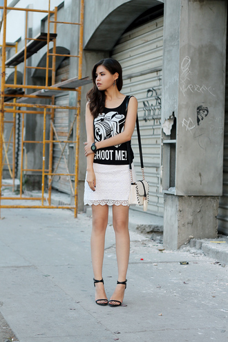bag tank top shoes skirt jewels fake leather
