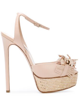 women sandals platform sandals leather nude shoes