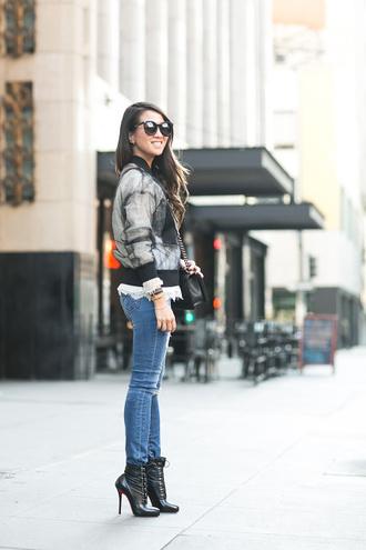 wendy's lookbook blogger top jacket bag shoes sunglasses jewels satin bomber