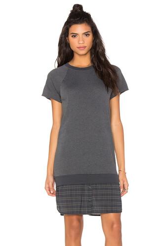 dress sweatshirt dress charcoal