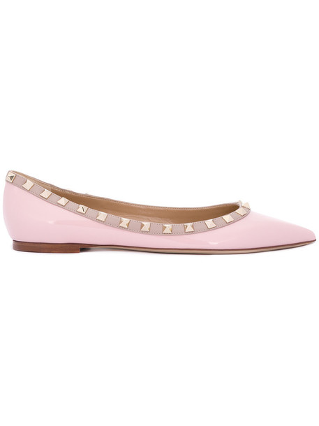 Valentino women leather purple pink shoes