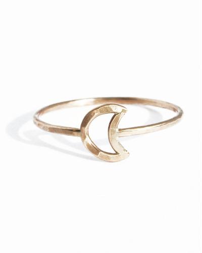 Gold Fill Moon Ring