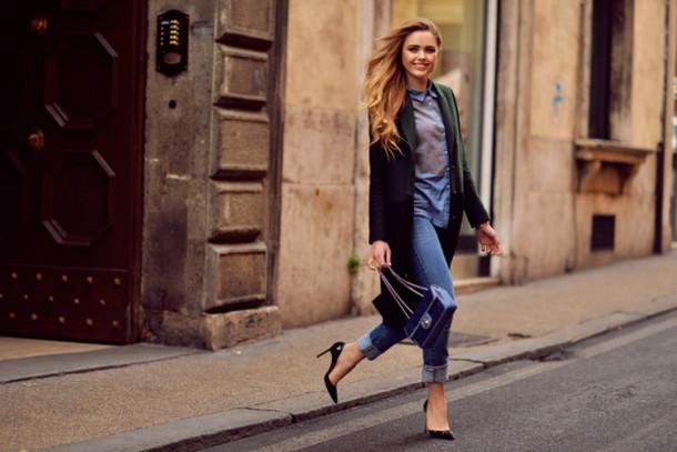 kayture jeans t-shirt coat shoes bag