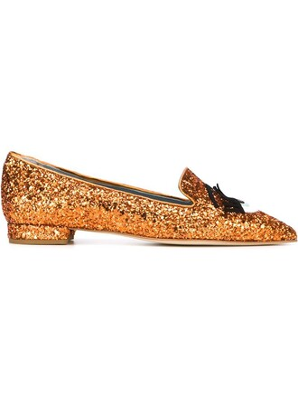glitter women plastic slippers leather yellow orange shoes