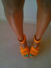 shoes,orange,heels