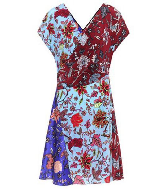 Diane Von Furstenberg dress silk dress floral silk