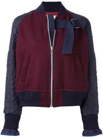 embroidered women cotton wool red jacket