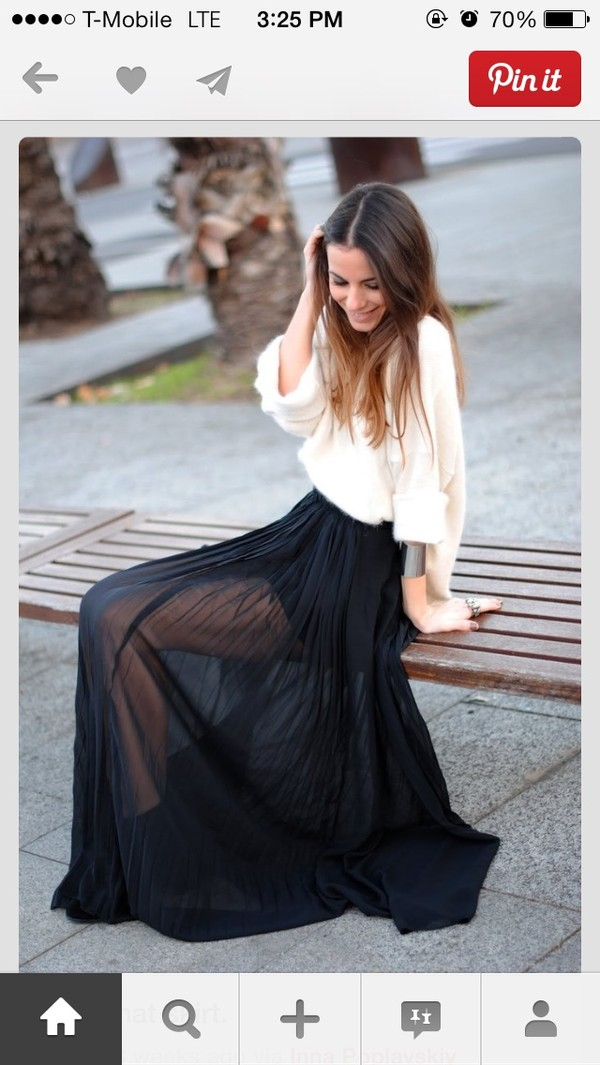 skirt maxi skirt sweater white fall outfits