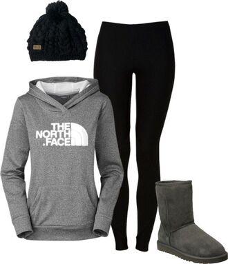 jacket north face hoodie leggings