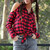 Red Plaid Button Down Cutout Flannel Shirt | Obsezz