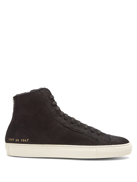 Common Projects top suede black