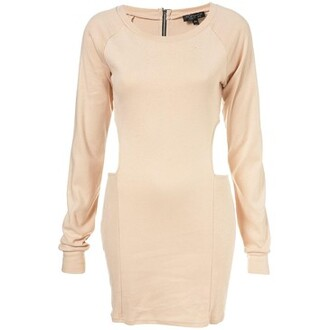 sweater zip clothes cut-out dress topshop long-sleeved
