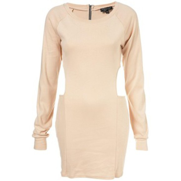 topshop dress sweater clothes cut-out long-sleeved zip