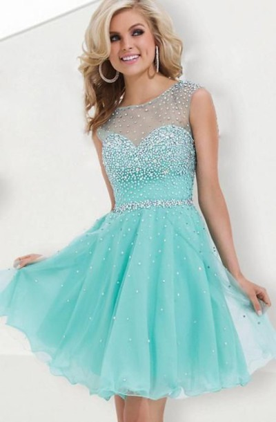 Dress: jacket, aqua blue, mint dress, sparkly dress ...