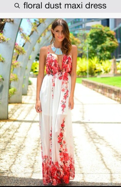 Dress floral prom white red maxi dress flowers muraboutique dress floral prom white red maxi dress flowers muraboutique floral maxi dress wheretoget mightylinksfo