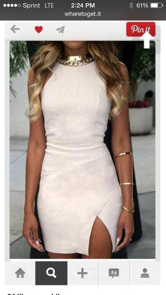 fitted dress white dress bodycon dress
