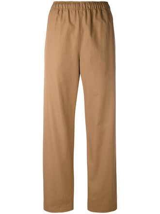 women cotton brown pants