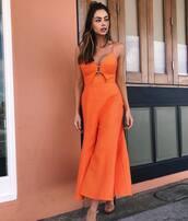 jumpsuit,orange jumpsuit