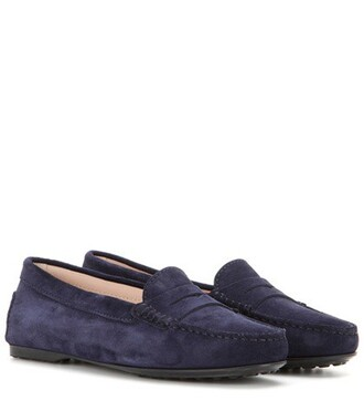 loafers suede blue shoes