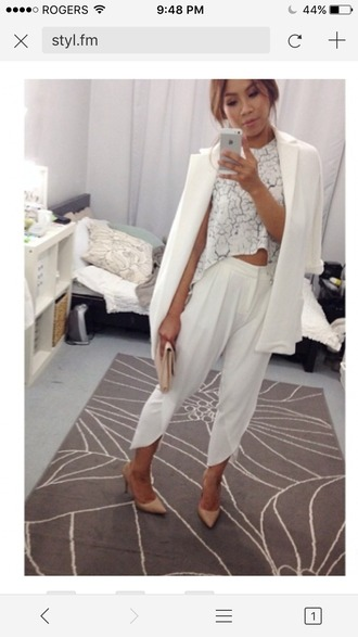 pants white silk white trousers white pants side split slit pants criss cross pants dress pants high waisted