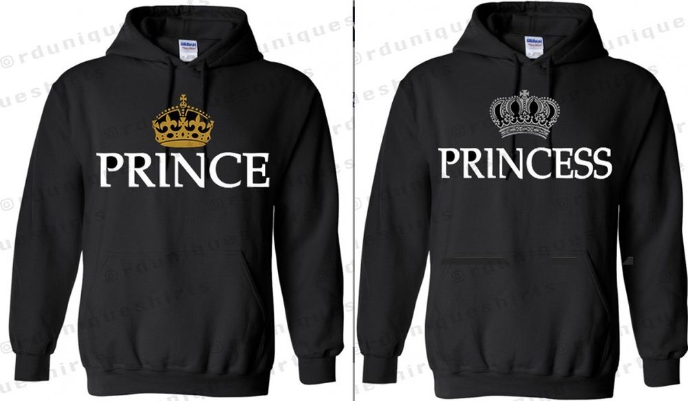 Couple matching prince and princess hoodie