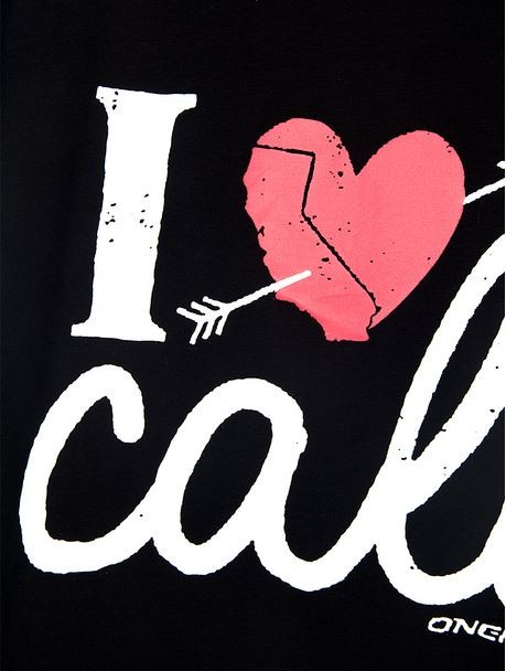 Black I Love Cali Tank Top
