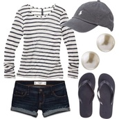 shorts,shirt,tiered,long sleeves,striped top,ruffle,alternative,chic,style