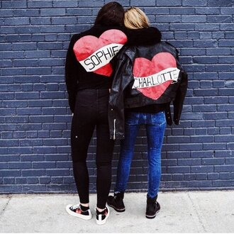 jacket customised leather jackets black leather jacket black jacket leather jacket jeans blue jeans black jeans sneakers black sneakers high top sneakers boots black boots fall outfits heart