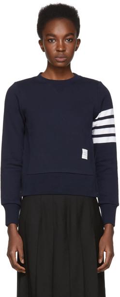 Thom Browne sweatshirt classic navy sweater
