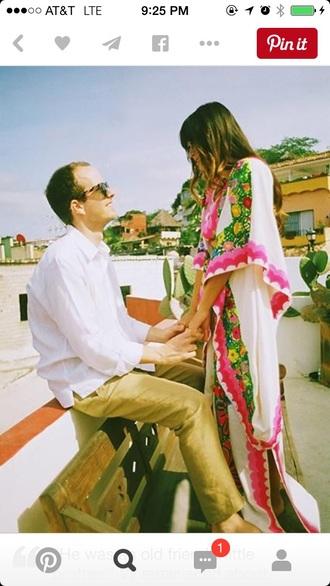 dress spanish kaftan maxi dres white