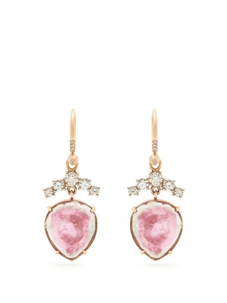 Irene Neuwirth rose earrings gold earrings gold rose gold jewels