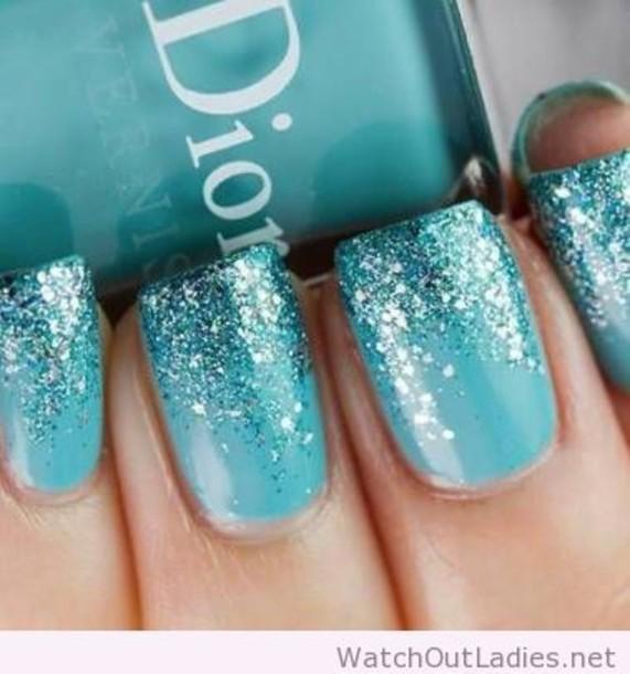 nail polish dior nail polish glitter blue