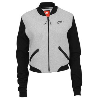 jacket grey jacket nike nike jacket sweater same colors sports jacket tech fleece grey black bomber jacket
