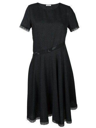 dress women lace cotton black wool
