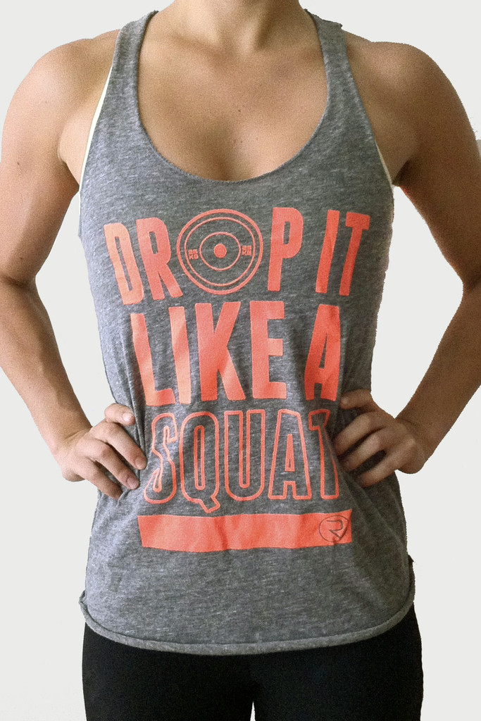 Drop It Like A Squat - Women's Premium Triblend Tank - ReEvolve