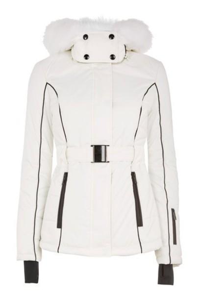 Topshop jacket fur faux fur white