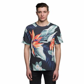 t-shirt flowers floral menswear fusion printed t-shirt hipster menswear urban menswear