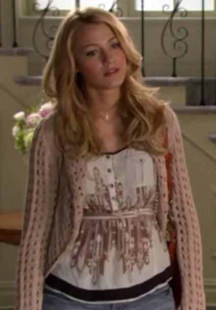 Sweater Gossip Girl Blake Lively Pink Serena Van Der