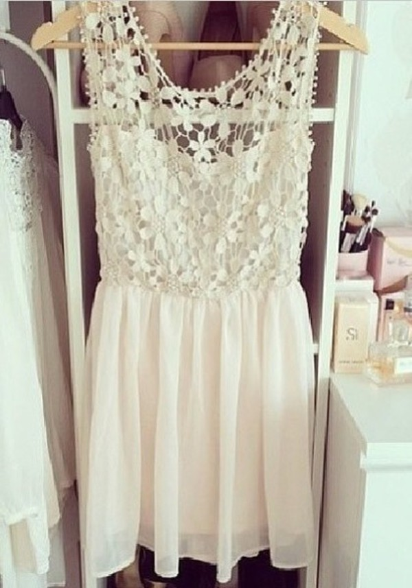 dress cute white