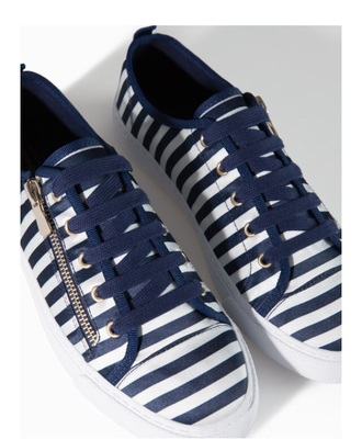 shoes blue white navy zip