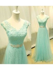 dress,prom,mint,green,bridesmaid,special occasion dress,prom dress,lace,sparkle,shiny,cool,cute,sexy,princess,princess dress,maxi dress,maxi,dressofgirl,v line,v neck,amazing,gorgeous,gorgeous dress,ribbon