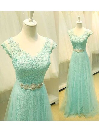 dress prom mint green bridesmaid special occasion dress prom dress lace sparkle shiny cool cute sexy princess princess dress maxi dress maxi dressofgirl v line v neck amazing gorgeous gorgeous dress ribbon