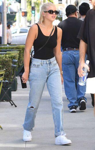 jeans top tank top sofia richie streetstyle