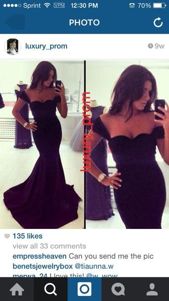 dress formal black flare dress