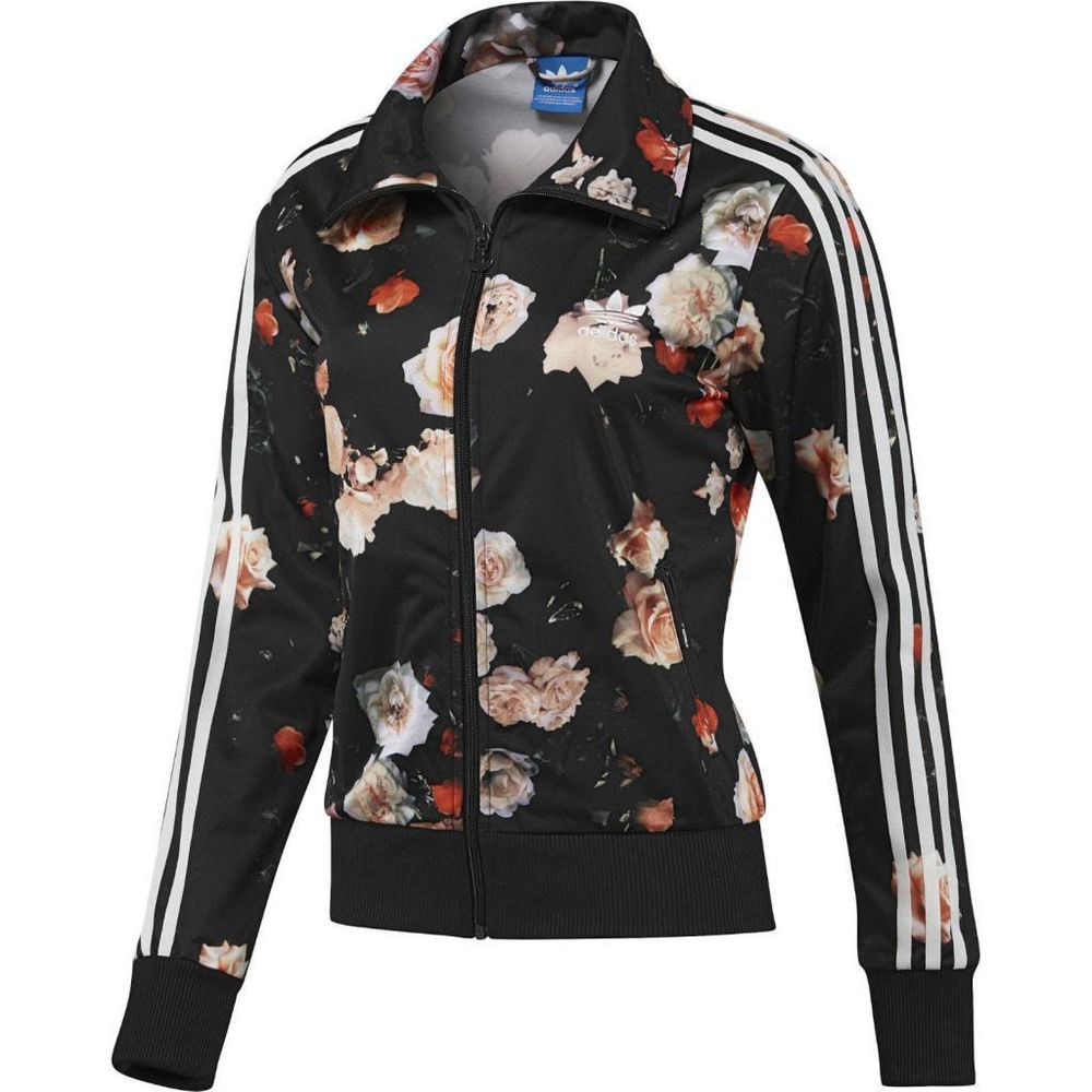 NEW ADIDAS ORIGINALS WOMEN FIREBIRD ROSE FLOWER BLACK TRACK