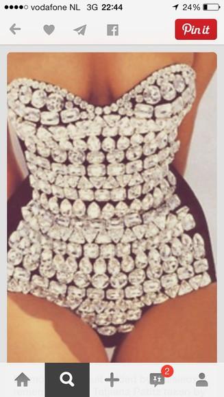 diamonds bodysuit