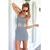 Women's Stripe Round Neck Sleeveless Slim Dress - $10.51