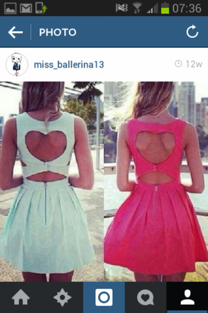 dress blue and but i want a white one instead of the pink one. thank u blue/pink heart shaped open back dress